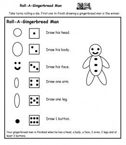 Roll a gingerbread man copy